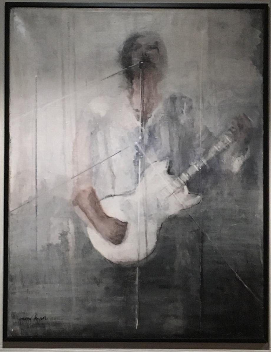 Muzičar II Dimenzija: 65x50 cm Ulje na platnu
